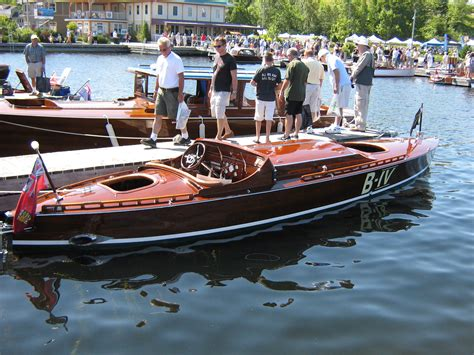 wood scow wooden boat shows port carling boats antique classic