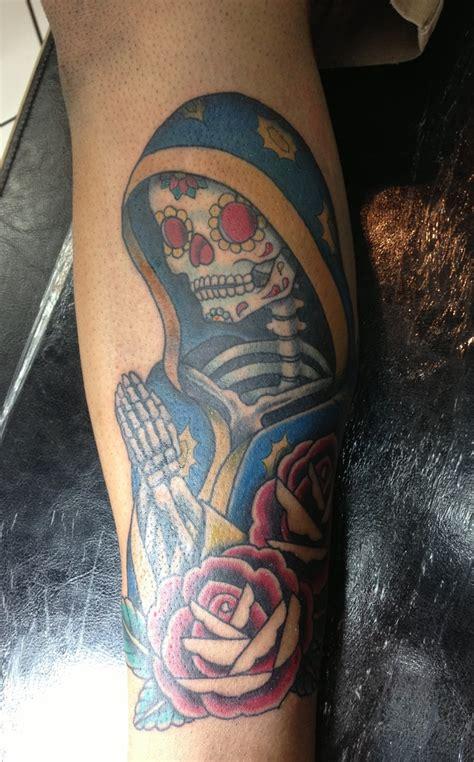 muerte tattoo santa muerte mexican santa