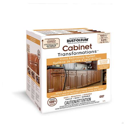 rust oleum transformations cabinet wood refinishing system cabinet transformations 174 wood refinishing system