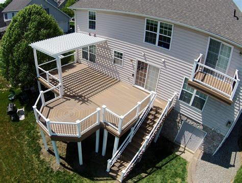 Outdoor Composite Deck Installation In Millersville Pa Deck Patio Design Pictures