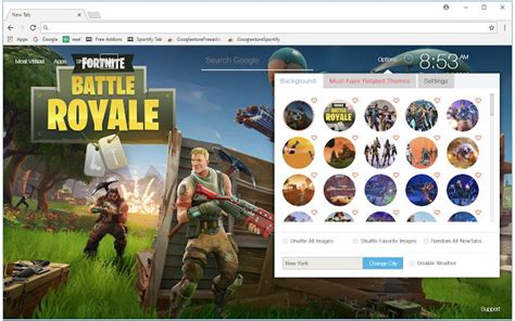 themes new tab fortnite battle royale hd wallpapers new tab free addons