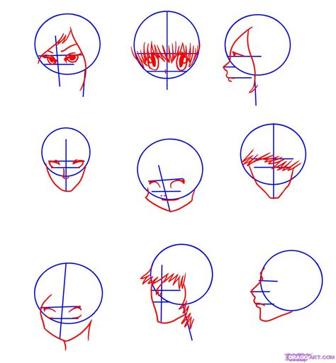 how to draw anime draw faces step by step drawing sheets added by