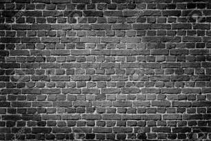 black brick wall old dark brick wall texture background stock photo