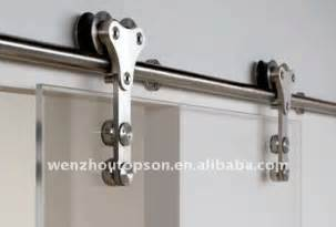 Glass Barn Door Hardware Stainless Steel Glass Sliding Barn Door Closet Hardware Set View Barn Door Hardware Kinmade
