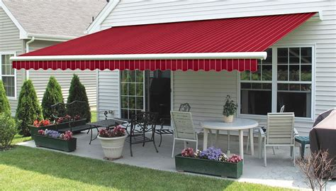 red awning rentals red stripe retractable awning residential 1 jpg