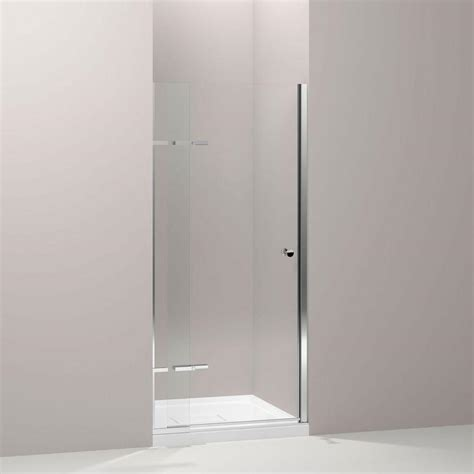 Pivoting Shower Doors Kohler Underline 36 In X 69 1 2 In Frameless Pivot Shower Door In Bright Polished Silver With