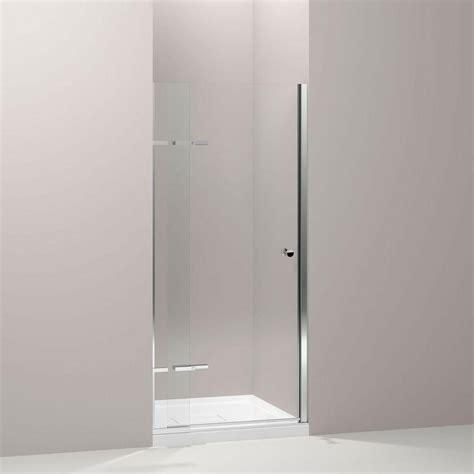 Pivoting Shower Door Kohler Underline 36 In X 69 1 2 In Frameless Pivot Shower Door In Bright Polished Silver With