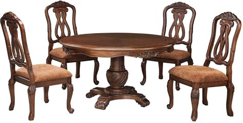 round dining room chairs north shore round pedestal dining room set from ashley