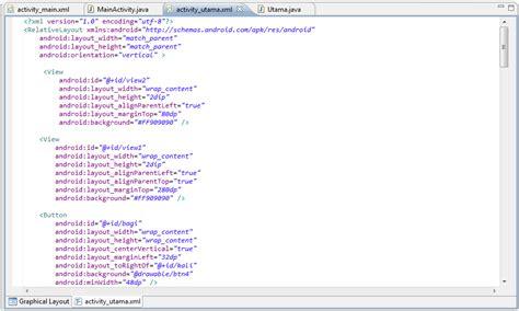 layout xml cte membuat aplikasi android kalkulator sederhana menggunakan