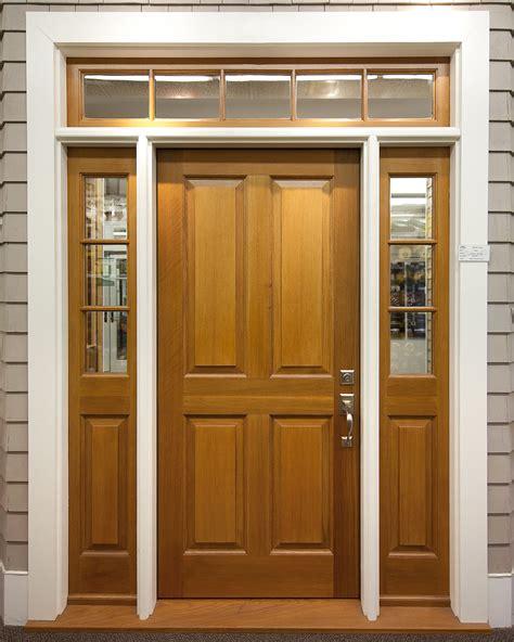 4 panel exterior door with 3 lite 1 panel sidelites