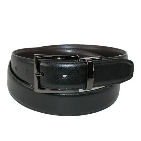 mens leather gunmetal buckle reversible belt by dockers