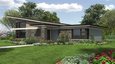 Contemporary Single Story House Plans by Modern Single Story Contemporary House Plan In