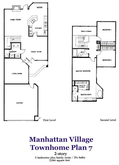 3 Story Townhome Plans by Plan 7 Townhome In Manhattan Manhattan Ca