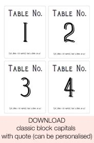 Free Table Number Templates by Free Printable Wedding Table Numbers Stickers