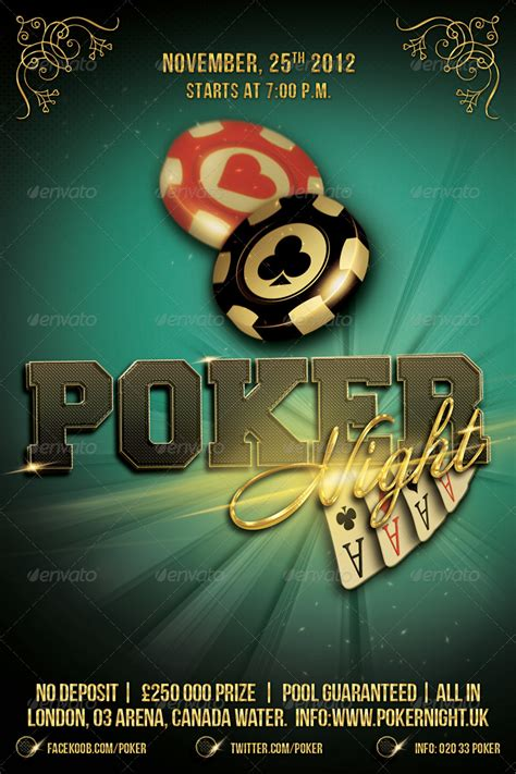 poker night flyer template     alexlasek graphicriver