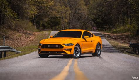 orange fury ford mustang gt weld  forged wheels