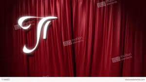 Sample House by Closing Red Curtain With A Title Quot The End Quot Stock Animation