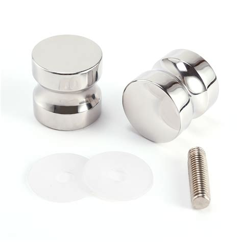 Shower Door Knobs 2x Back To Back Cylinder Shower Door Handle Pull Knobs Chrome Stainless Steel Ebay