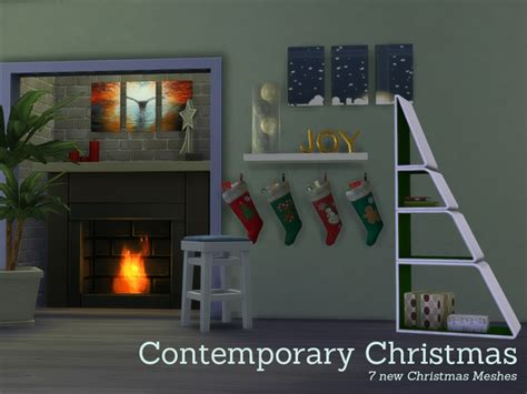 sims 4 cc home decor the sims resource contemporary christmas decorations by
