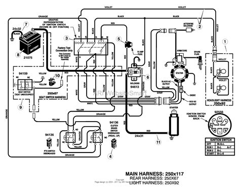 wiring diagram for craftsman lawn mower wiring
