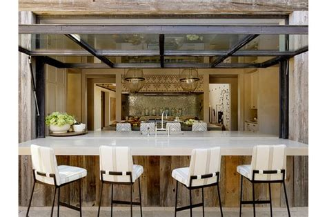 a simple outdoor kitchen that matches the indoor kitchen that s just plain and simple good design outdoor