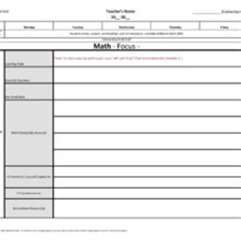 florida lesson plan template kindergarten florida standards weekly lesson plan template