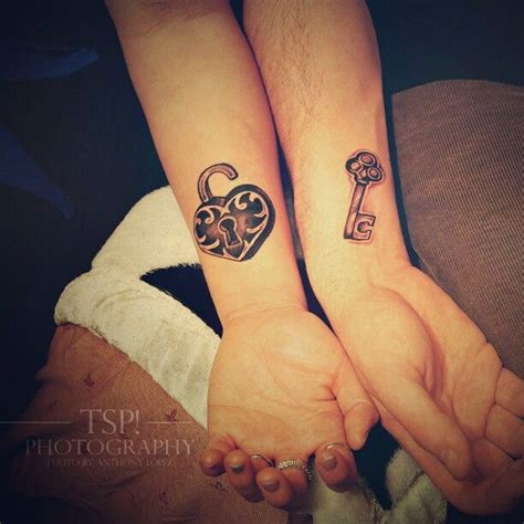 heart lock and key tattoos for couples lock and key tattoos for couples smaller though and in