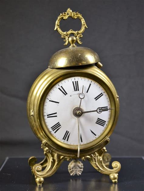 alarm clock with pendulum enamel clock grand prix de l