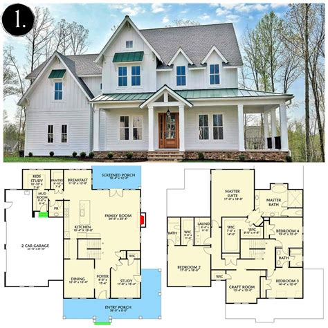 farmhouse floor plans house plans modern farmhouse escortsea