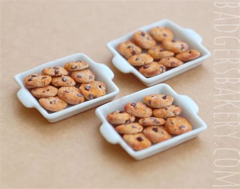 doll house food cookie tray miniature 1 12 scale dollhouse food badger