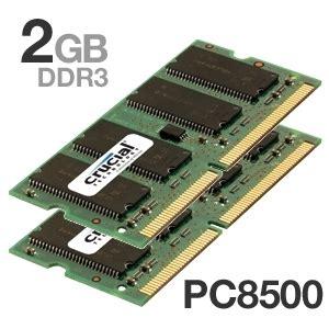 Ram Ddr3 Pc8500 2gb buy the crucial 2gb pc8500 ddr3 1066mhz sodimm memory at tigerdirect ca