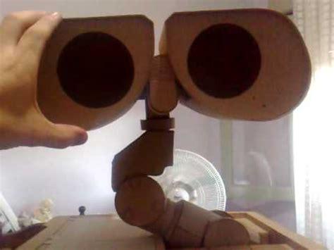 como hacer un wall e con material reciclable construyendo a wall e en carton building a cardboard