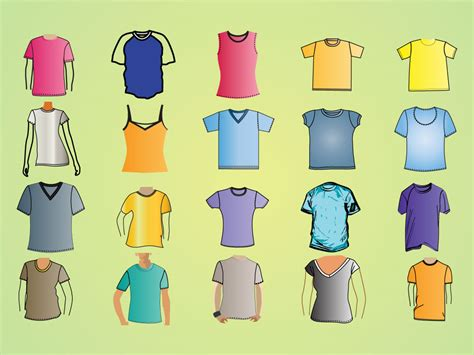 Different Designs Of Shirts Shirt Template Vectors