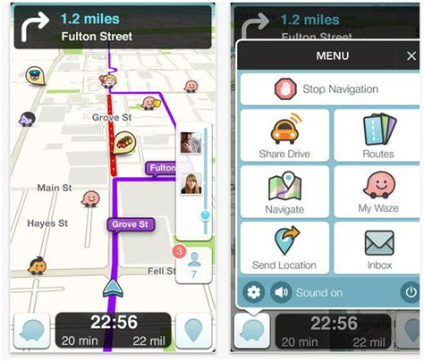 waze android app waze on ios and android updated ubergizmo