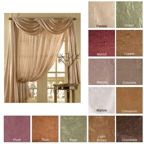 overstock window treatments anya 6 yard scarf valance overstock shopping great