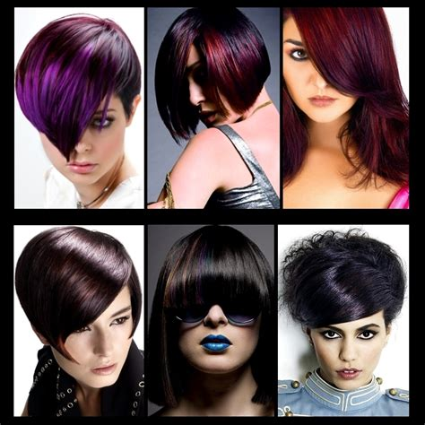 black hairstyles and colours red and black hair color ideas images bakuland
