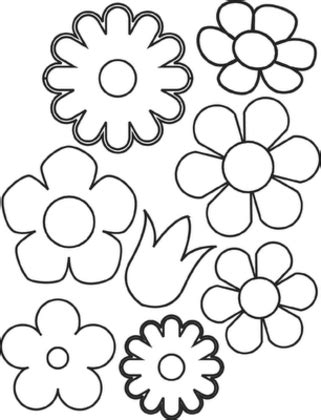 coloring pages small flowers flower coloring pages getcoloringpages com