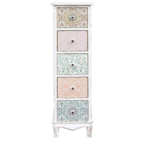cassettiere shabby chic cassettiera colonna shabby decorata mobili provenzali shabby