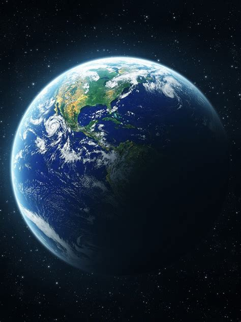 earth portrait wallpaper 3d abstract planet earth from space wallpaper ipad