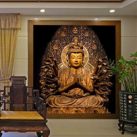 Buddha Wall Mural online get cheap buddha wood wall aliexpress com