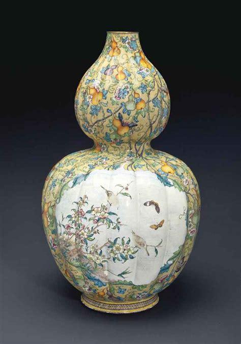 Qianlong Vase by A Large Painted Enamel Gourd Vase Qianlong