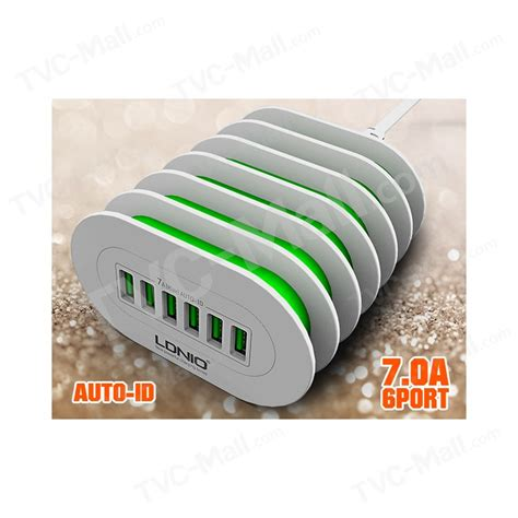 Usb Travel Charger Samsung S3353 Chat 1 ldnio a6702 ce rohs 6 port usb wall travel charger adapter for samsung iphone eu tvc mall