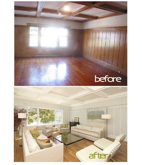 before and after best colors to lighten up paneling search before and after
