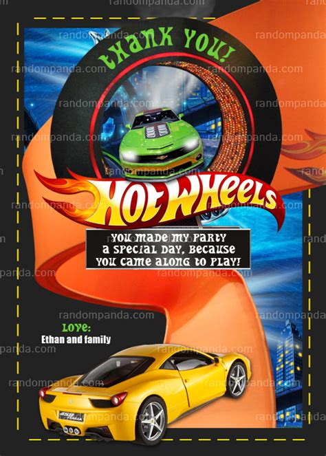 printable birthday cards hot wheels diy hotwheels race car birthday party invitation
