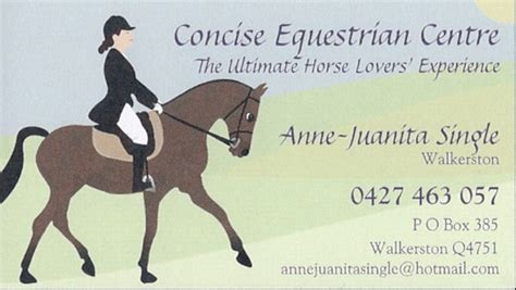 Horse Trainers Mackay Concise Equestrian Centre Horseback Lesson Gift Certificate Template