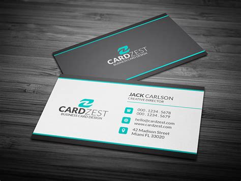 clean professional corporate business card template 187 cardzest