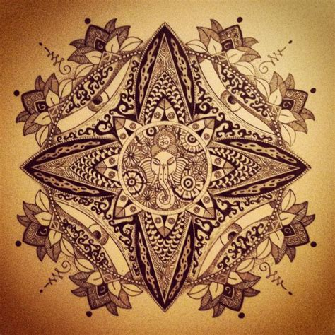 ganesh mandala tattoo 1000 images about ganesha on pinterest
