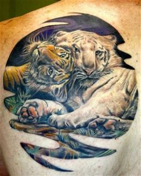bengals tattoo designs back of tiger done in the japanese