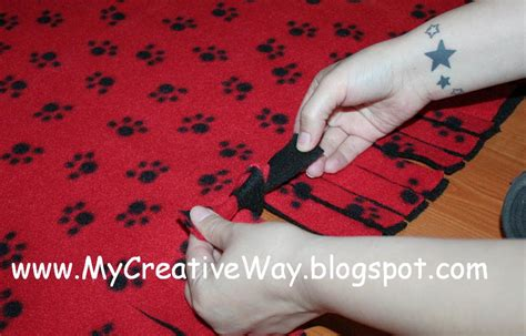 how to make a fleece rug my creative way how to make a knotted fleece blanket