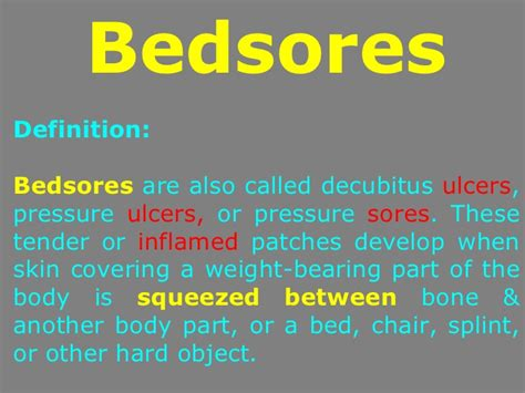 how to get rid of bed sores bedsores and its remedy